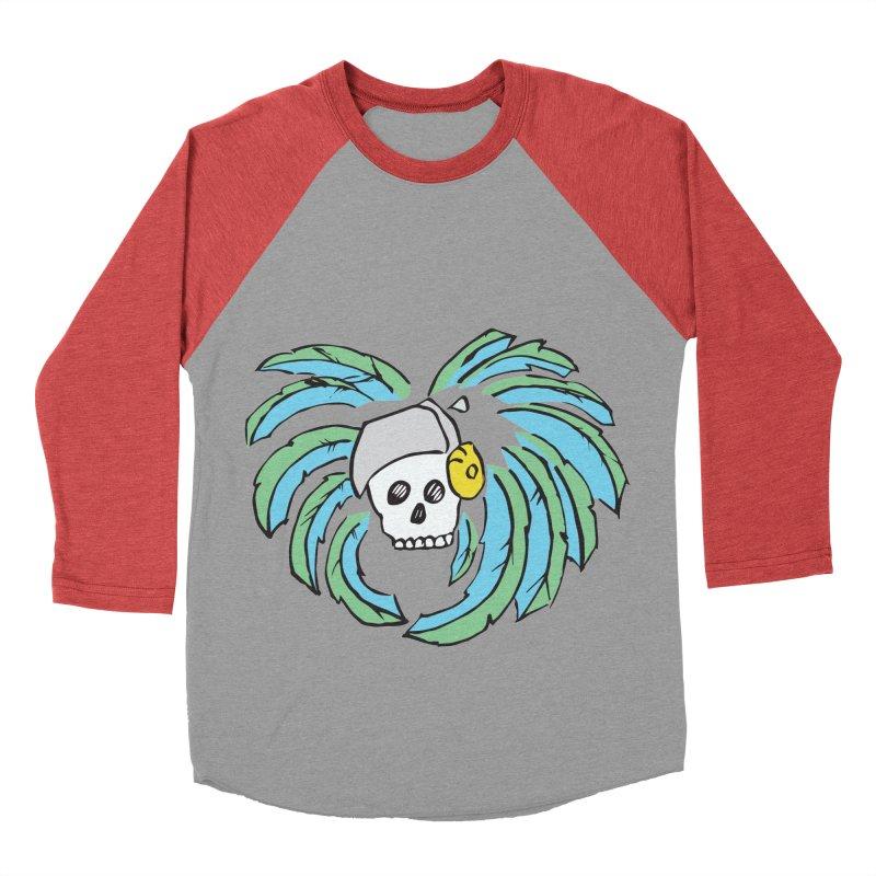 Heart of an Aztec Women's Baseball Triblend Longsleeve T-Shirt by Castaneda Designs