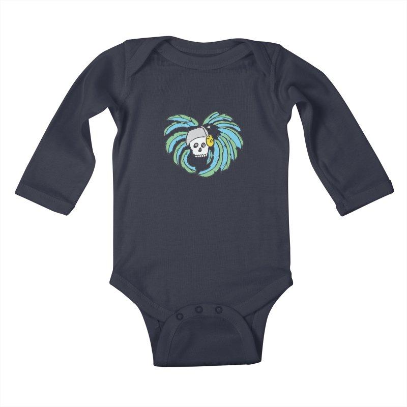 Heart of an Aztec Kids Baby Longsleeve Bodysuit by Castaneda Designs