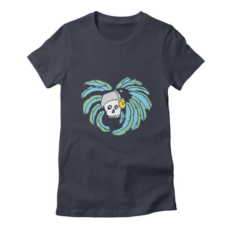 Heart of an Aztec Women's Fitted T-Shirt by Castaneda Designs