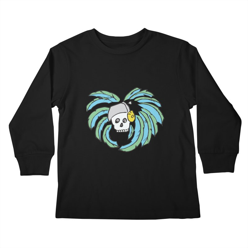Heart of an Aztec Kids Longsleeve T-Shirt by Castaneda Designs