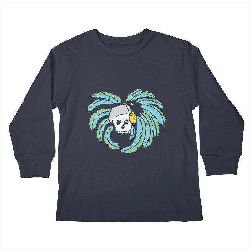 Heart of an Aztec Kids Longsleeve T-Shirt by Castaneda Designs
