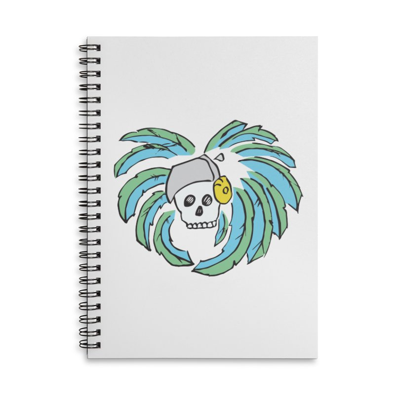 Heart of an Aztec Accessories Lined Spiral Notebook by Castaneda Designs