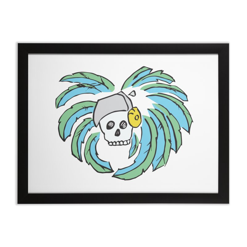 Heart of an Aztec Home Framed Fine Art Print by Castaneda Designs