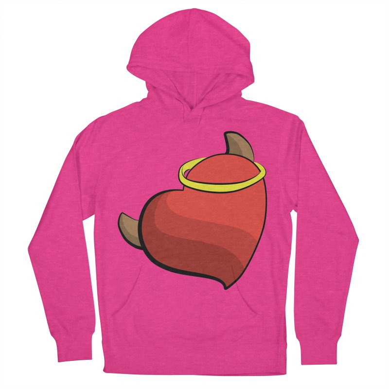 Evil love Women's French Terry Pullover Hoody by Castaneda Designs