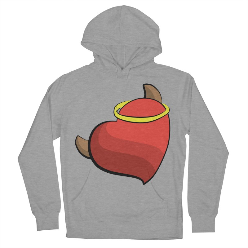 Evil love Men's French Terry Pullover Hoody by Castaneda Designs
