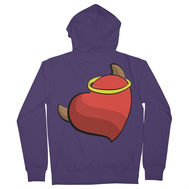 Evil love Women's French Terry Zip-Up Hoody by Castaneda Designs