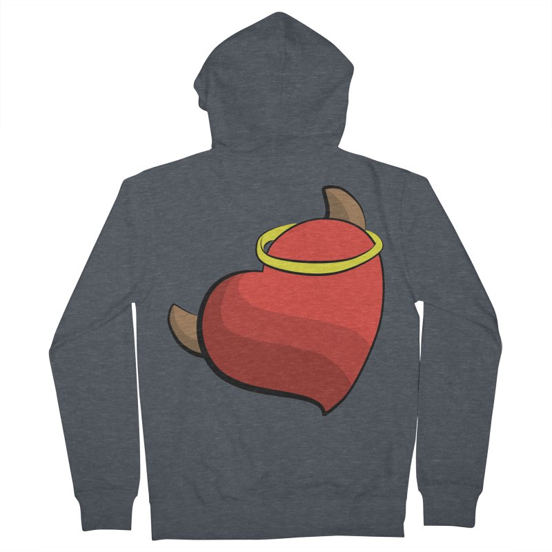 Evil love Men's French Terry Zip-Up Hoody by Castaneda Designs
