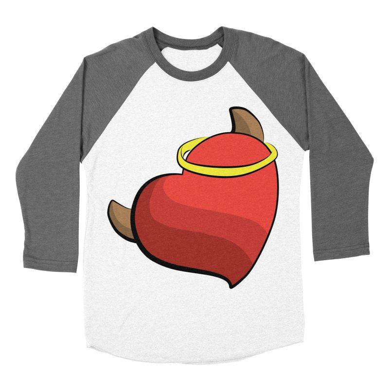 Evil love Women's Baseball Triblend Longsleeve T-Shirt by Castaneda Designs