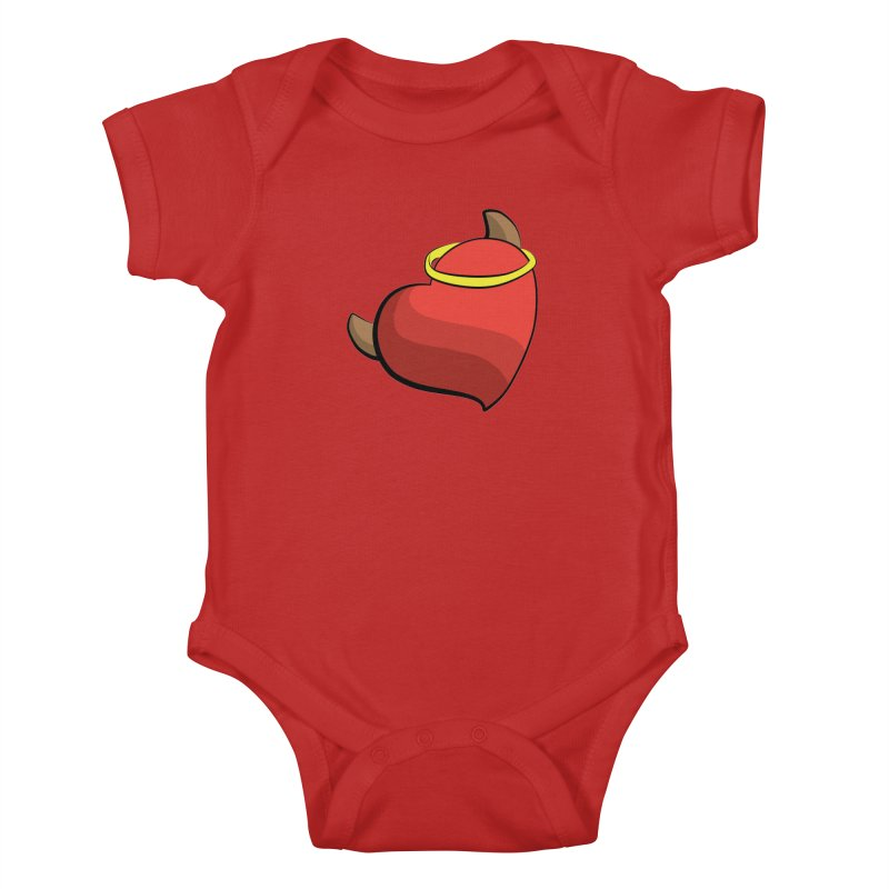 Evil love Kids Baby Bodysuit by Castaneda Designs