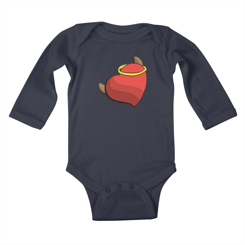 Evil love Kids Baby Longsleeve Bodysuit by Castaneda Designs