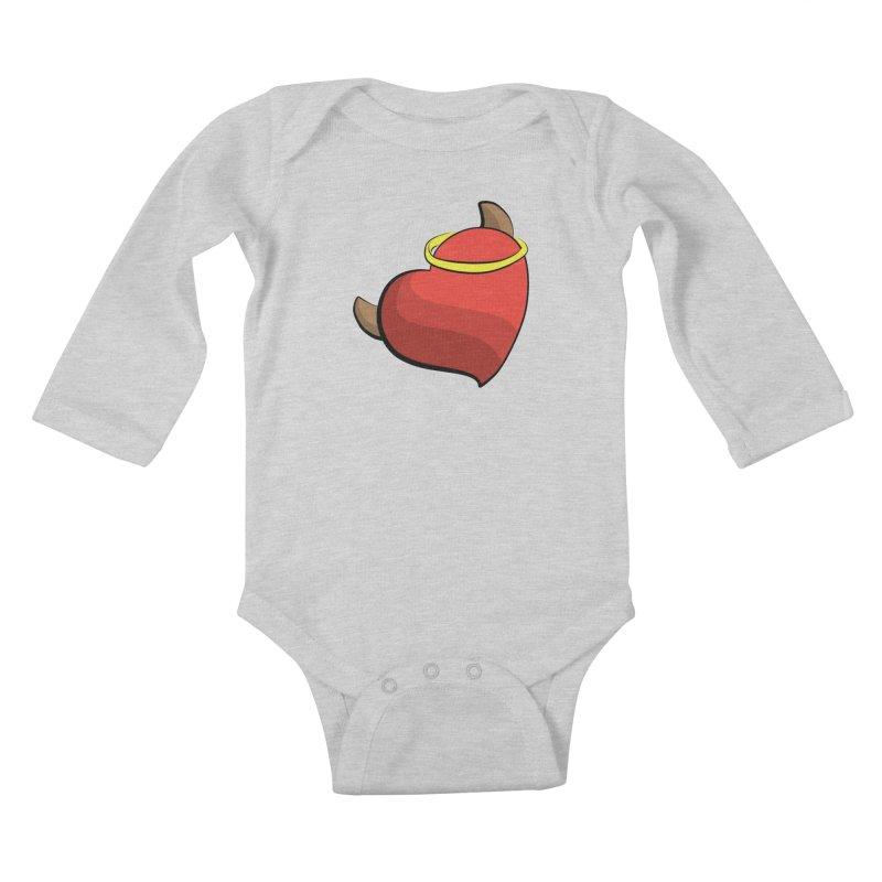Evil love Kids Baby Longsleeve Bodysuit by Castaneda Designs