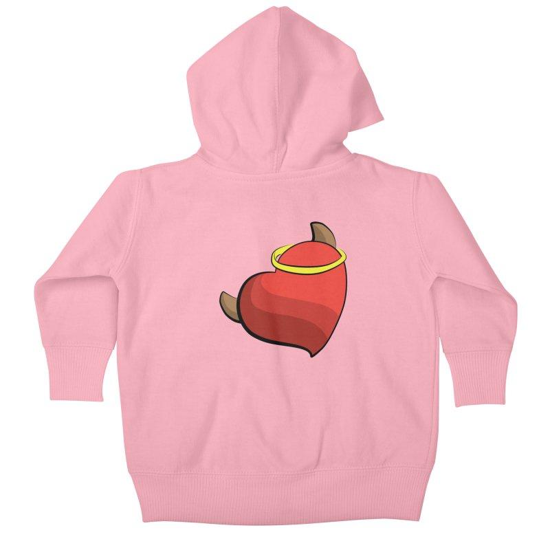 Evil love Kids Baby Zip-Up Hoody by Castaneda Designs
