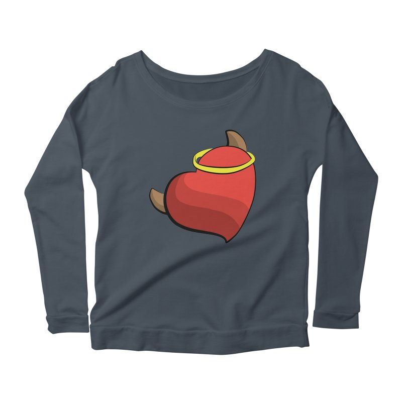Evil love Women's Scoop Neck Longsleeve T-Shirt by Castaneda Designs