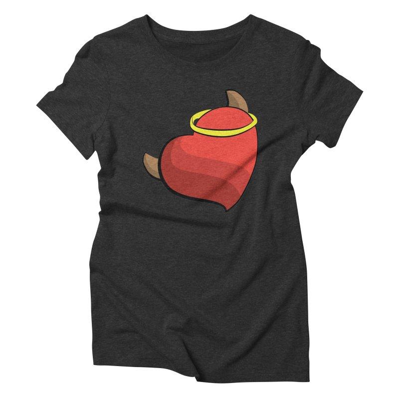 Evil love Women's Triblend T-Shirt by Castaneda Designs