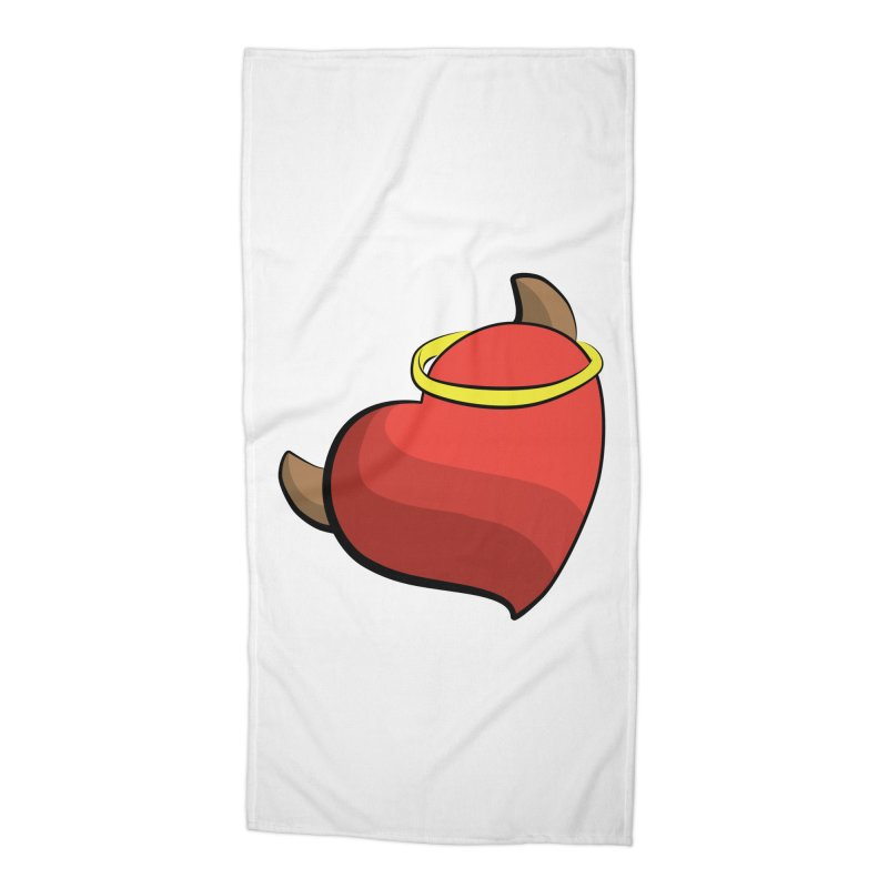 Evil love Accessories Beach Towel by Castaneda Designs