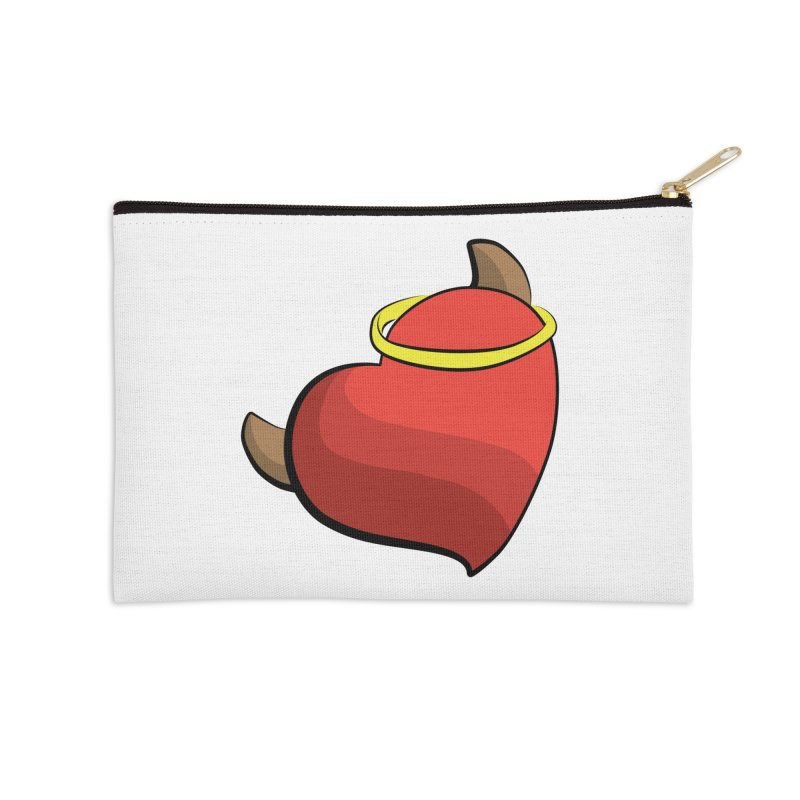 Evil love Accessories Zip Pouch by Castaneda Designs