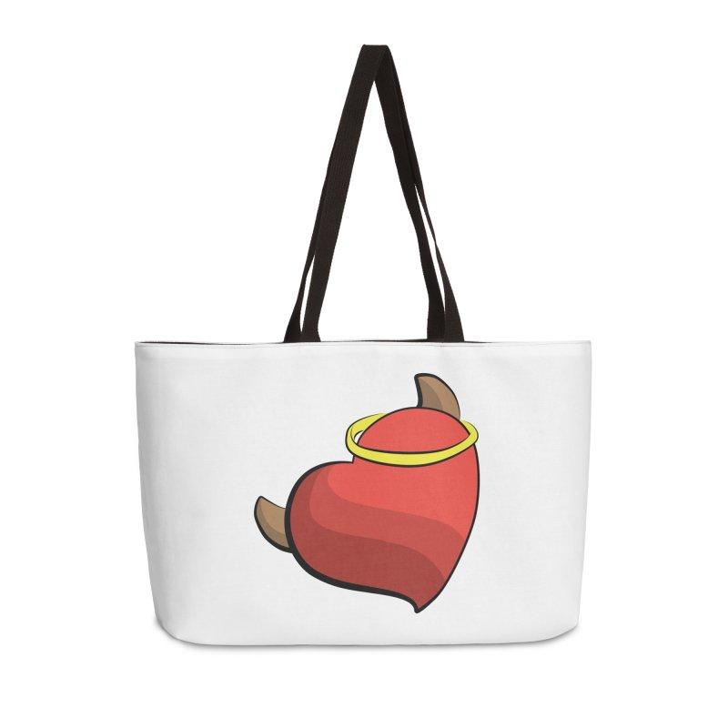 Evil love Accessories Weekender Bag Bag by Castaneda Designs