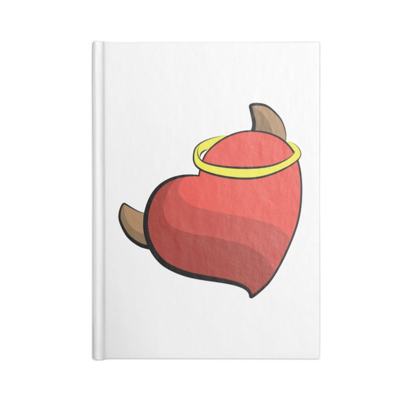 Evil love Accessories Blank Journal Notebook by Castaneda Designs