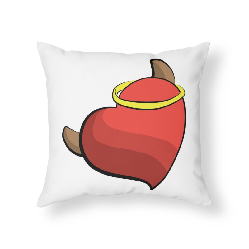 Evil love Home Throw Pillow by Castaneda Designs