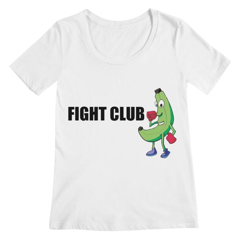 Fruit Fight Women's Regular Scoop Neck by Castaneda Designs