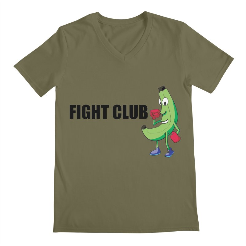 Fruit Fight Men's Regular V-Neck by Castaneda Designs