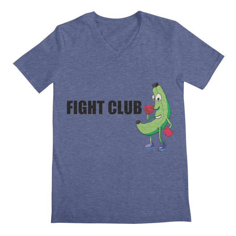 Fruit Fight Men's Regular V-Neck by Castaneda Designs