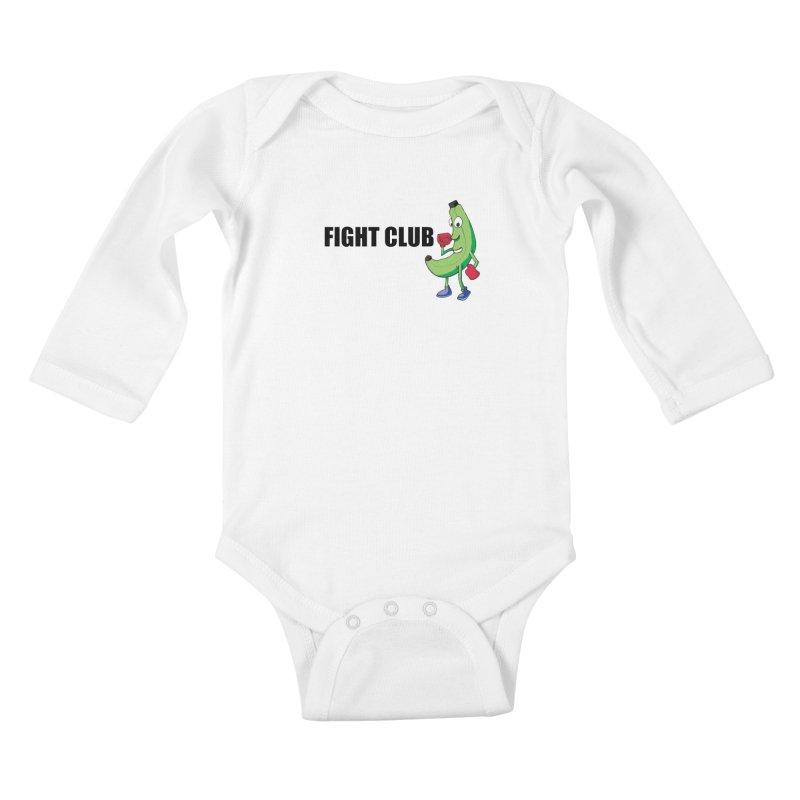 Fruit Fight Kids Baby Longsleeve Bodysuit by Castaneda Designs
