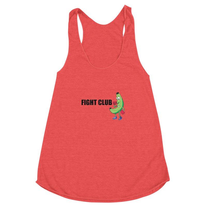 Fruit Fight Women's Racerback Triblend Tank by Castaneda Designs