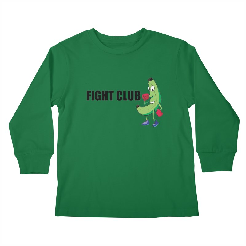 Fruit Fight Kids Longsleeve T-Shirt by Castaneda Designs