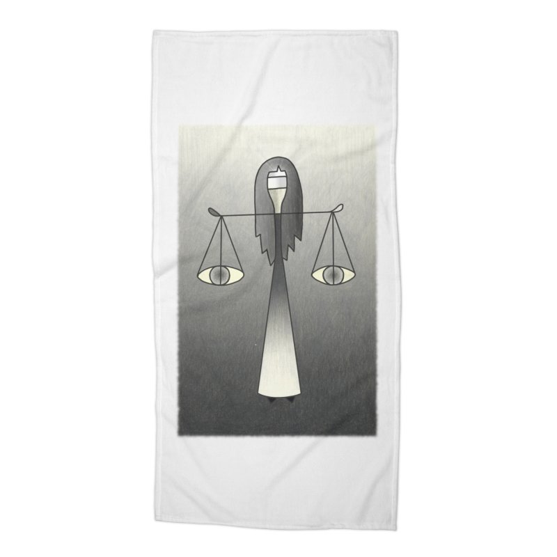 Justice Accessories Beach Towel by Bad Kerning by castinbronze