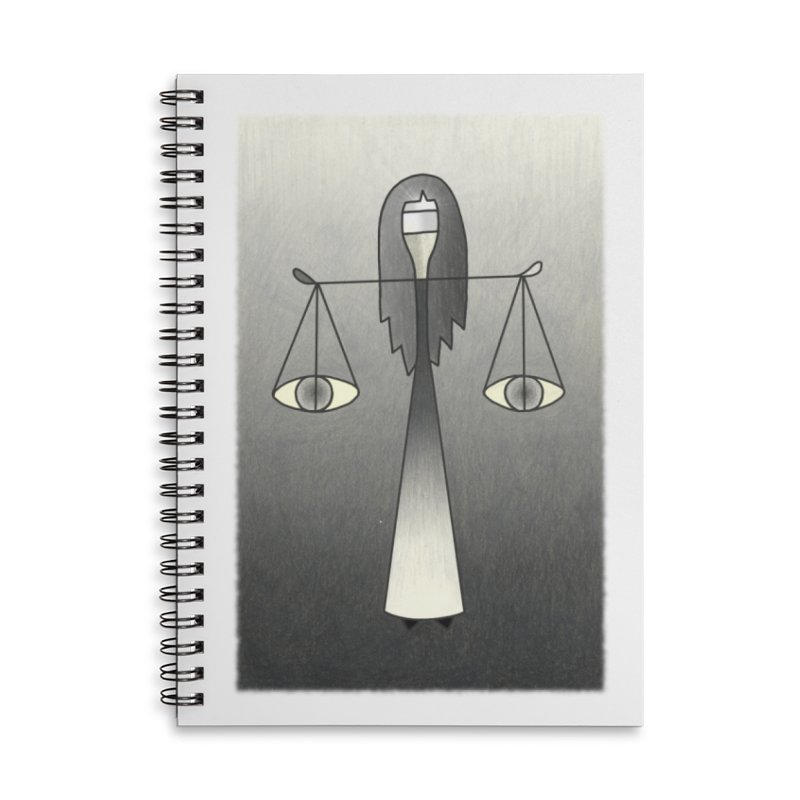 Justice Accessories Lined Spiral Notebook by Bad Kerning by castinbronze