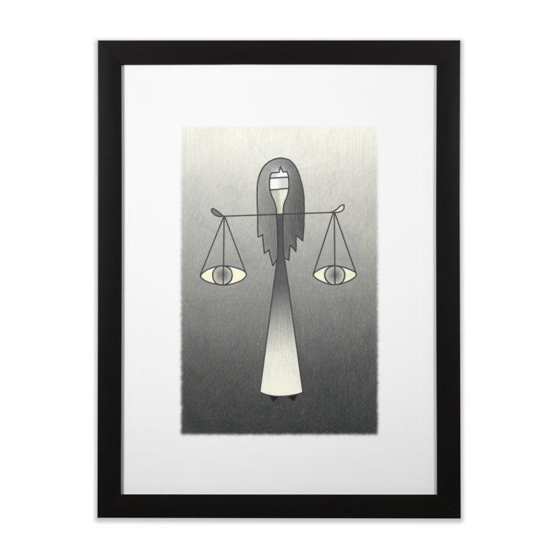 Justice Home Framed Fine Art Print by castinbronze design