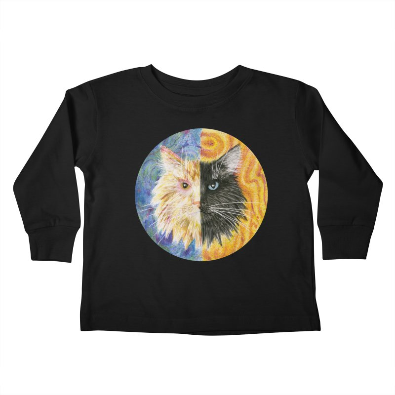 Gemeowni Kids Toddler Longsleeve T-Shirt by Bad Kerning by castinbronze