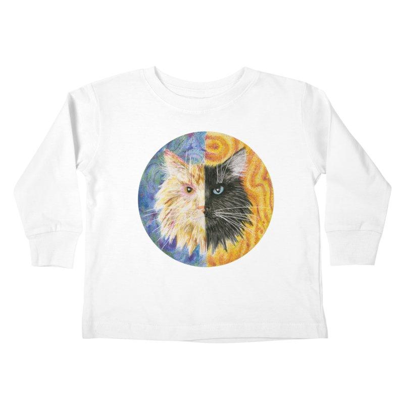 Gemeowni Kids Toddler Longsleeve T-Shirt by Bad Kerning by castinbronze