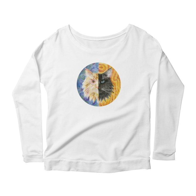 Gemeowni Women's Scoop Neck Longsleeve T-Shirt by Bad Kerning by castinbronze