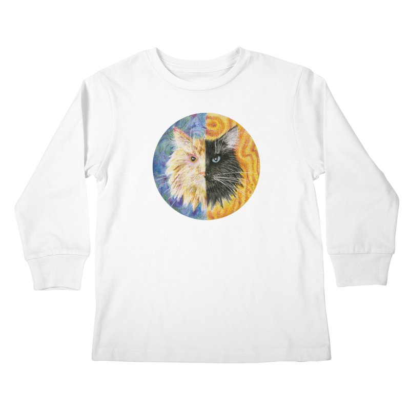 Gemeowni Kids Longsleeve T-Shirt by Bad Kerning by castinbronze