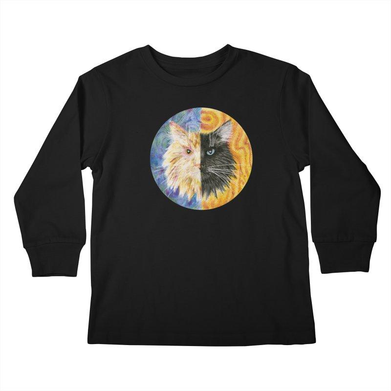 Gemeowni Kids Longsleeve T-Shirt by castinbronze design