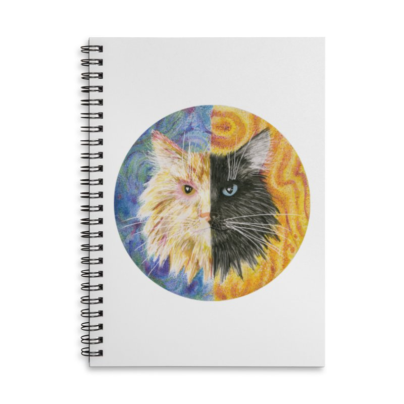 Gemeowni Accessories Lined Spiral Notebook by Bad Kerning by castinbronze