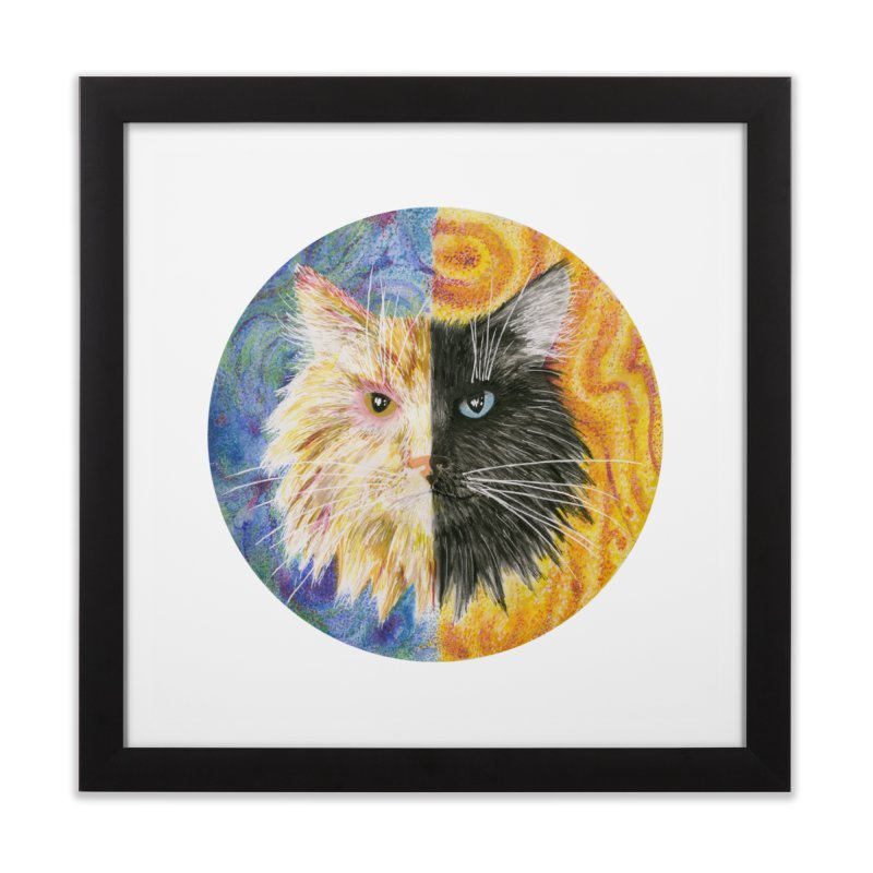 Gemeowni Home Framed Fine Art Print by Bad Kerning by castinbronze