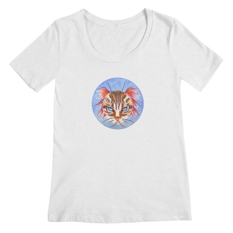 Pawsces Women's Scoop Neck by Bad Kerning by castinbronze
