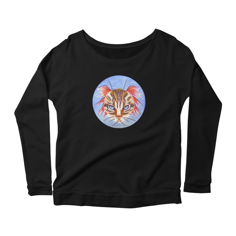 Pawsces Women's Longsleeve Scoopneck  by Bad Kerning by castinbronze