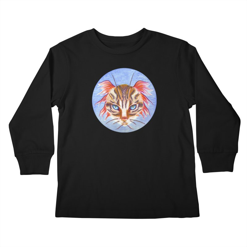 Pawsces Kids Longsleeve T-Shirt by Bad Kerning by castinbronze