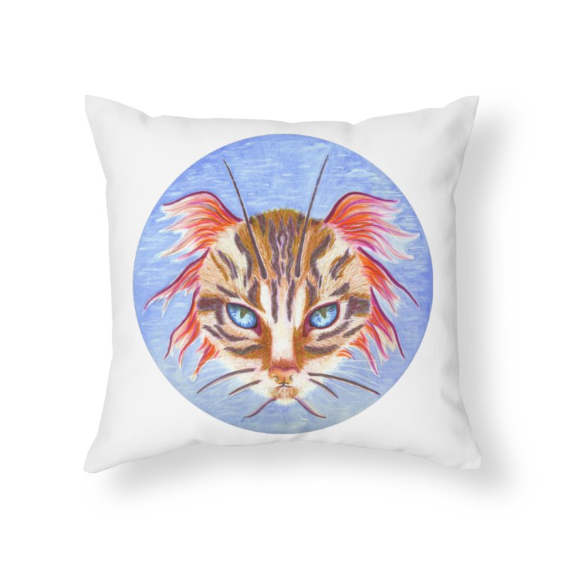 Pawsces Home Throw Pillow by Bad Kerning by castinbronze