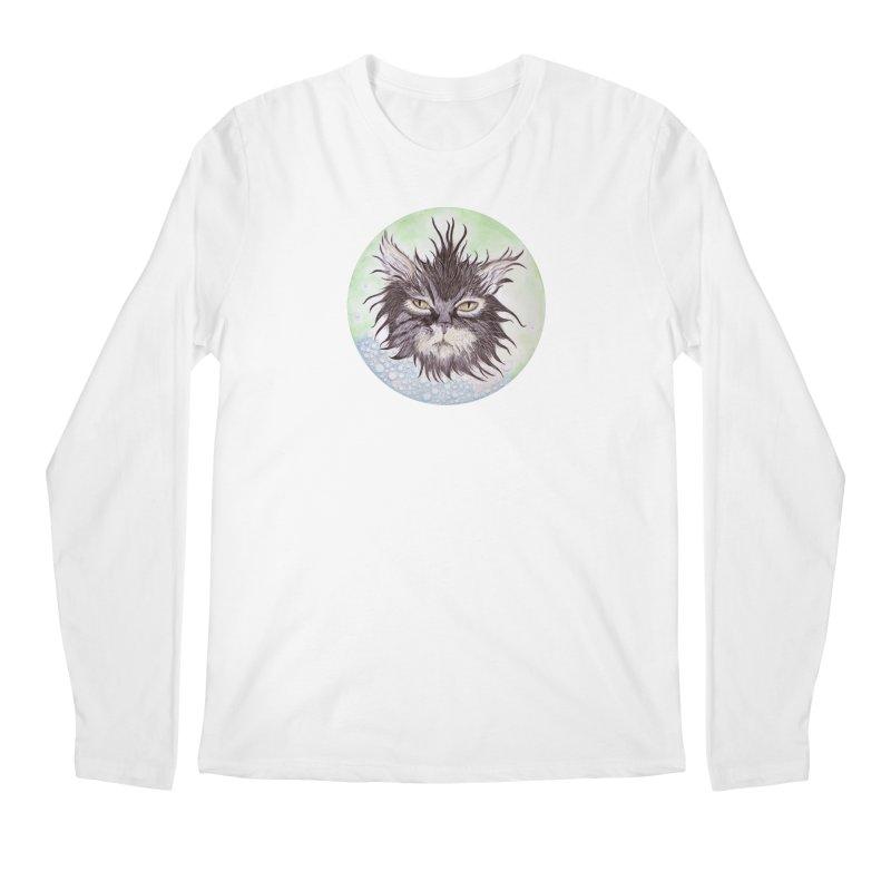 Aquarihiss Men's Regular Longsleeve T-Shirt by Bad Kerning by castinbronze