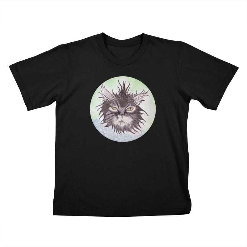 Aquarihiss Kids T-Shirt by Bad Kerning by castinbronze