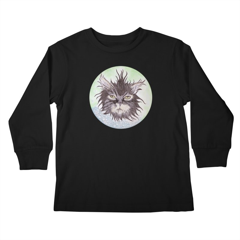 Aquarihiss Kids Longsleeve T-Shirt by Bad Kerning by castinbronze