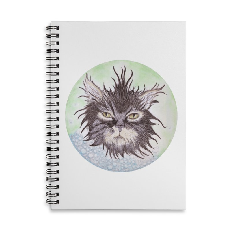 Aquarihiss Accessories Lined Spiral Notebook by Bad Kerning by castinbronze
