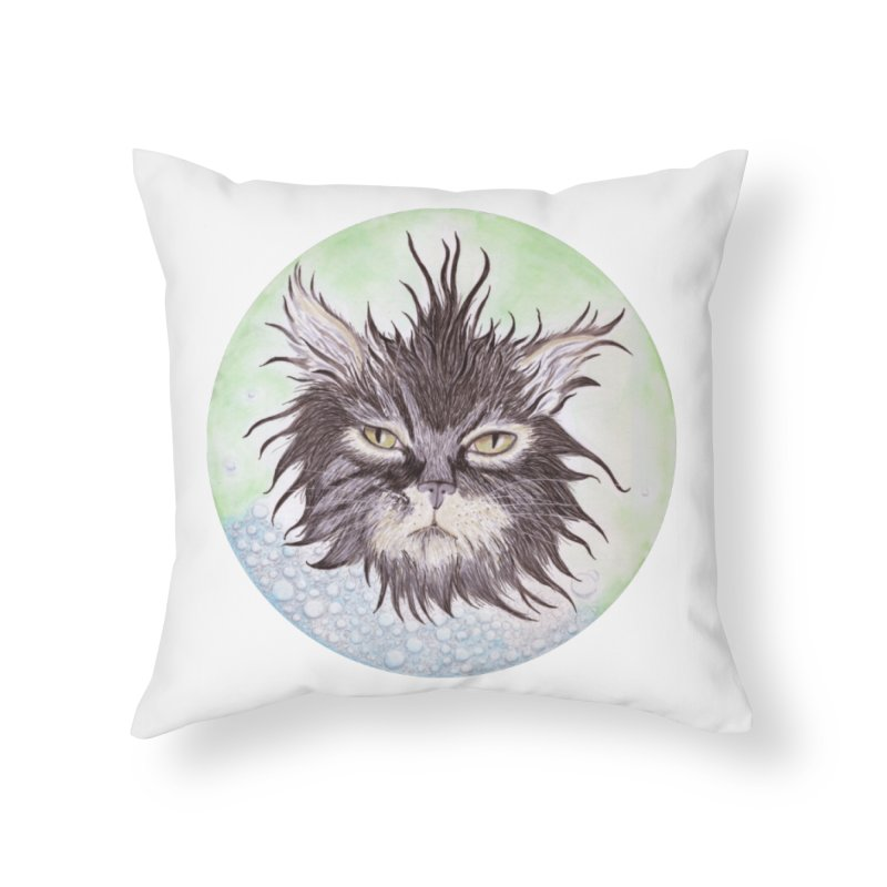 Aquarihiss Home Throw Pillow by Bad Kerning by castinbronze
