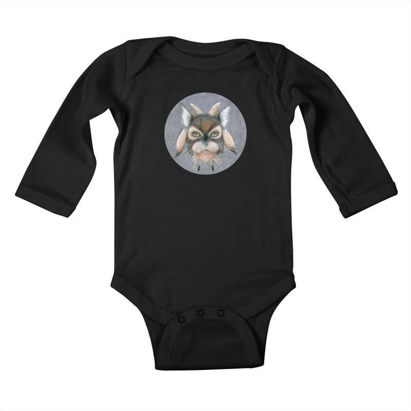 Catpricorn Kids Baby Longsleeve Bodysuit by Bad Kerning by castinbronze