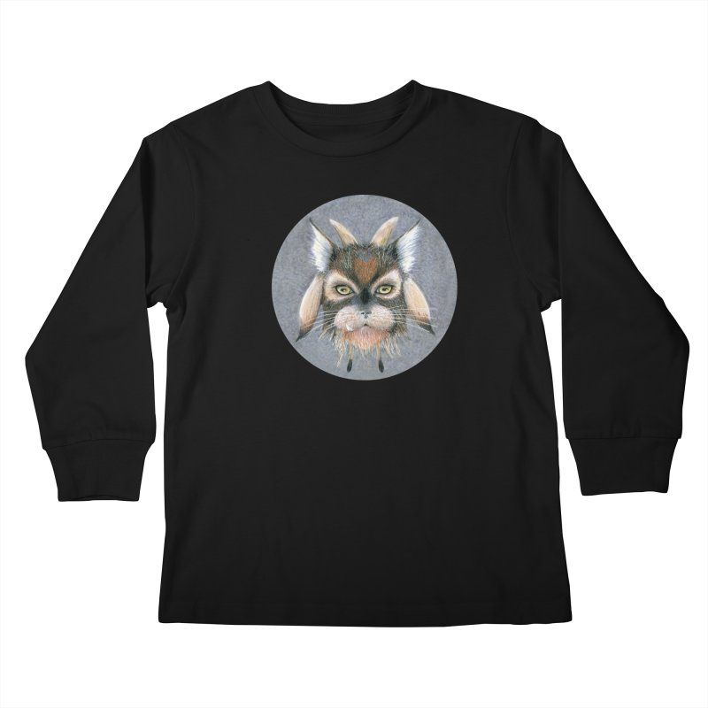 Catpricorn Kids Longsleeve T-Shirt by castinbronze design